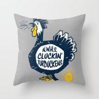 Cluckin' Turduckens Throw Pillow