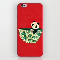 Dinnerware sets - panda in a bowl iPhone & iPod Skin