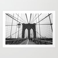 Brooklyn Bridge 3 Art Print