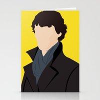 sherlock Stationery Cards featuring Sherlock by Jessica Slater Design & Illustration