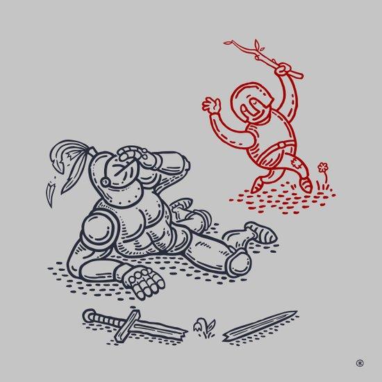 Happy Knight  Art Print