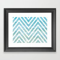 Water Chevron  Framed Art Print