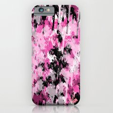 Abstract Artwork black & pink iPhone 6 Slim Case