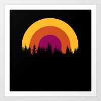 la canzone del bosco Art Print
