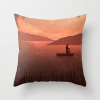 The Fishing Trip Throw Pillow
