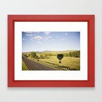 away we go::denver Framed Art Print