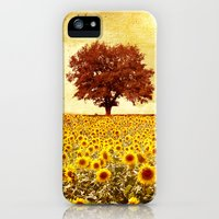 iPhone 5s & iPhone 5 Cases featuring lone tree & sunflowers field by Viviana Gonzalez