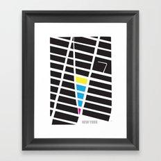 City Map New York Framed Art Print