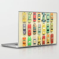 orange Laptop & iPad Skins featuring Car Park by Cassia Beck