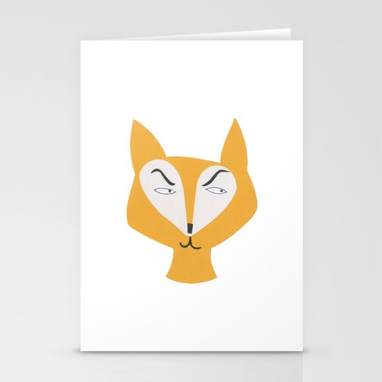 Mr Fox Stationery Card