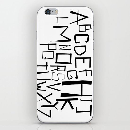 Alphabet #2 iPhone & iPod Skin