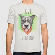 Pitbull - Love Is Blind … Mens Fitted Tee Silver SMALL