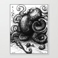Octopus #8 Canvas Print