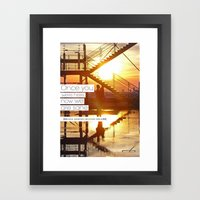 Once You Were Here, Now … Framed Art Print