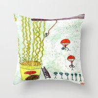 The Mission of Instant Noodles Throw Pillow