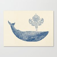 The Damask Whale  Canvas Print