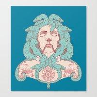 Tattooed Medusa Canvas Print