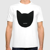 Cat! Mens Fitted Tee White SMALL