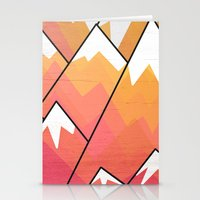 Mountain Peaks  Stationery Cards