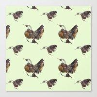 Green Hummingbirds Canvas Print