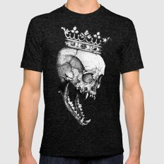Ancients Kings : The Wolf Mens Fitted Tee Tri-Black SMALL