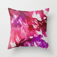 Morning Blossoms 2 - Mag… Throw Pillow