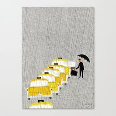 Taxi, New York Canvas Print