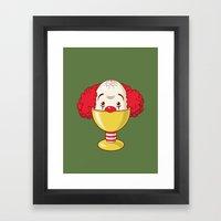 Clown & Egg Framed Art Print