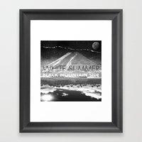 White Summer / Black Mou… Framed Art Print