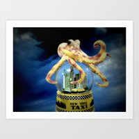 Octopus Attacks New York! Art Print
