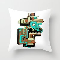 Dimensional Beings II Throw Pillow