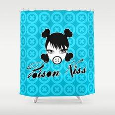 POISON KISS CYAN Shower Curtain