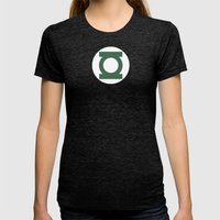 Green Lantern Vector Logo Womens Fitted Tee Tri-Black SMALL