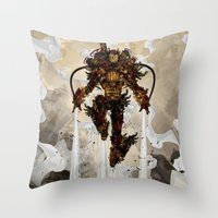 Steamy Iron Throw Pillow