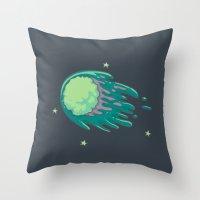 Slimy Comet Throw Pillow