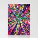 Colorful Rays of Light Stationery Cards