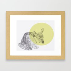 sleep tightly deer Framed Art Print