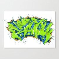 Vecta Wall Smash Canvas Print