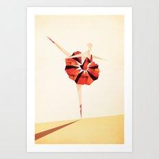 The Ballance ( Girl on fire) Art Print