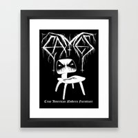 Modern Black Metal Framed Art Print