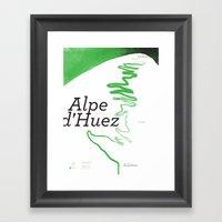 Famous Climbs: Alpe D'Hu… Framed Art Print