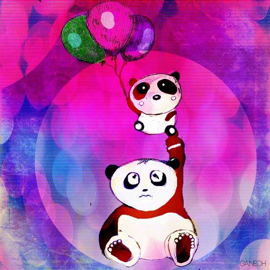 The stupid things of the baby panda Art Print