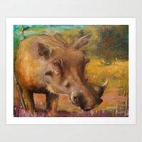 Common Warthog (Phacocho… Art Print