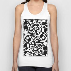 Chaos in black and white Unisex Tank Top