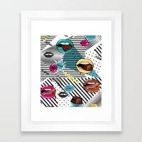 Pop Lips Framed Art Print