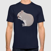 A Tailless Squirrel Mens Fitted Tee Navy SMALL