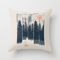 A Fox in the Wild... Throw Pillow