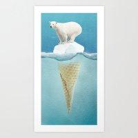 Polar Ice Cream Cap Art Print