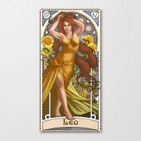 Zodiac Art Show - Leo Canvas Print