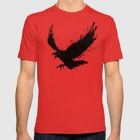 Raven Mens Fitted Tee Red SMALL